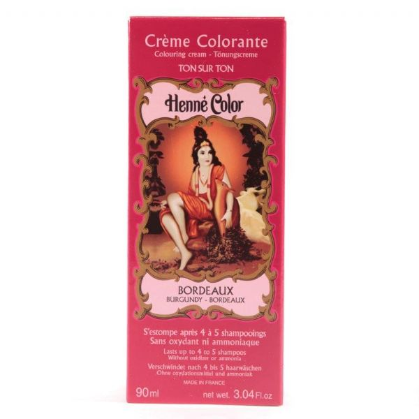 Burgundy Henne Henna Liquid Hair Dye Colouring Cream | World's End Natural Products